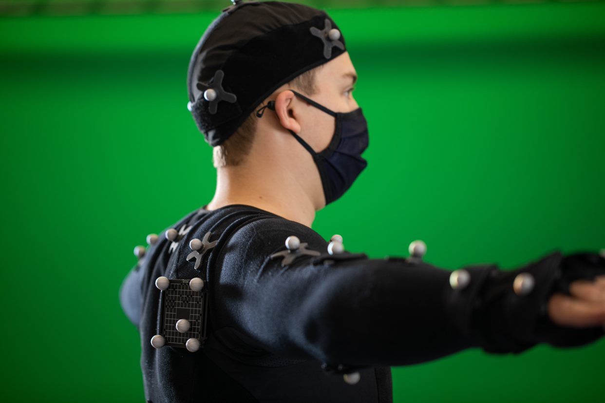 Motion Capture Studio Suit with markers