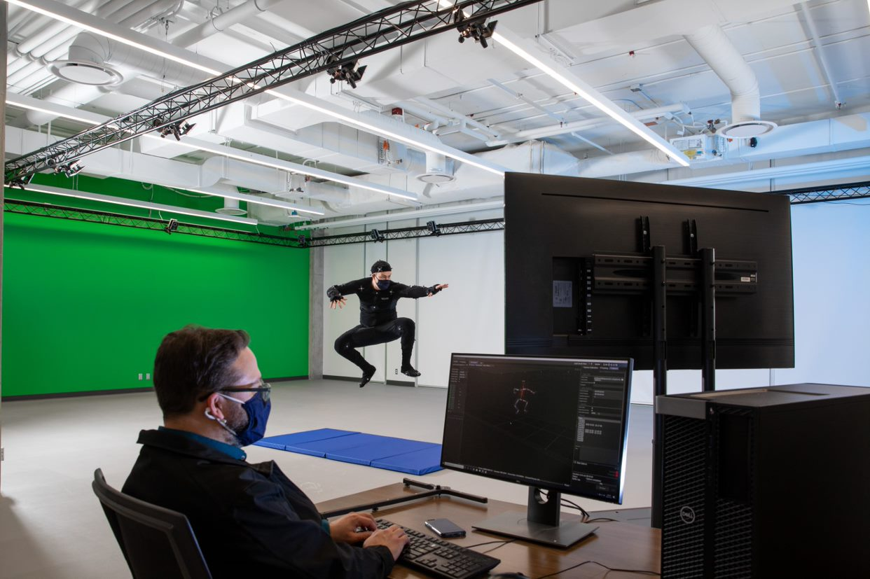 Motion Capture Studio Perspective View