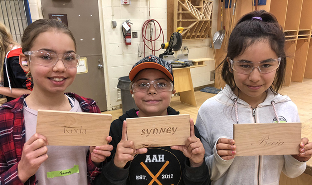 Girls try out welding, machining and carpentry at NAIT camp