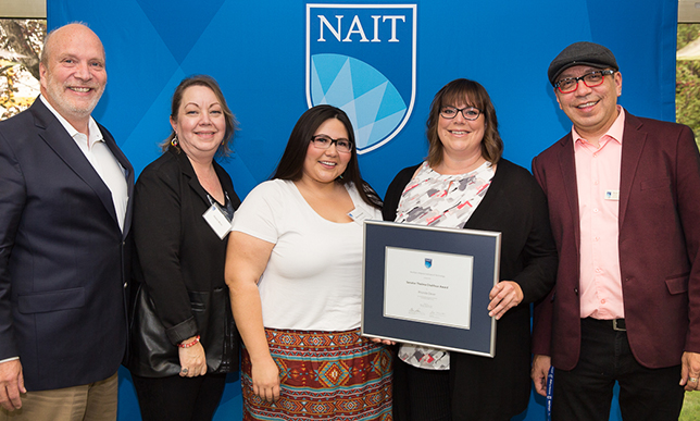 NAIT instructor receives award for commitment to Aboriginal student success