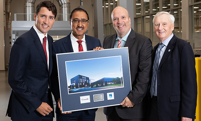 Prime Minister Justin Trudeau opens NAIT's Productivity and Innovation Centre
