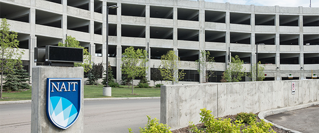 Nait Parking Map Parking and Transportation   NAIT
