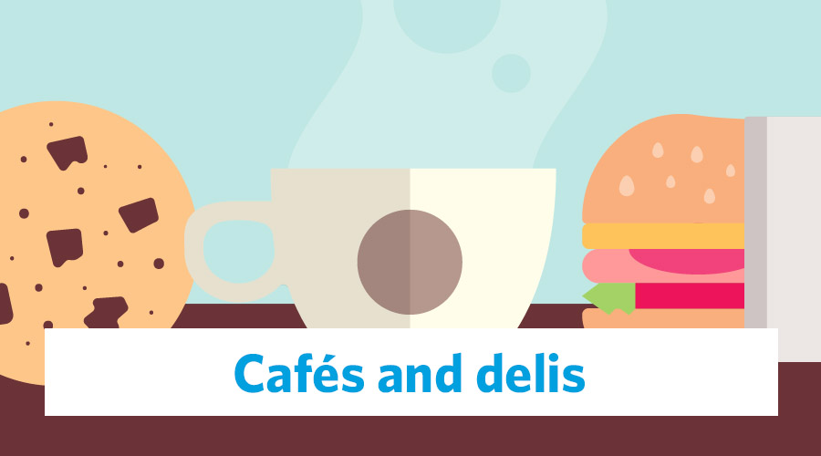 cafes and delis graphic