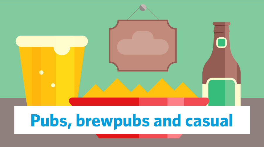 pubs, brewpubs and casual graphic