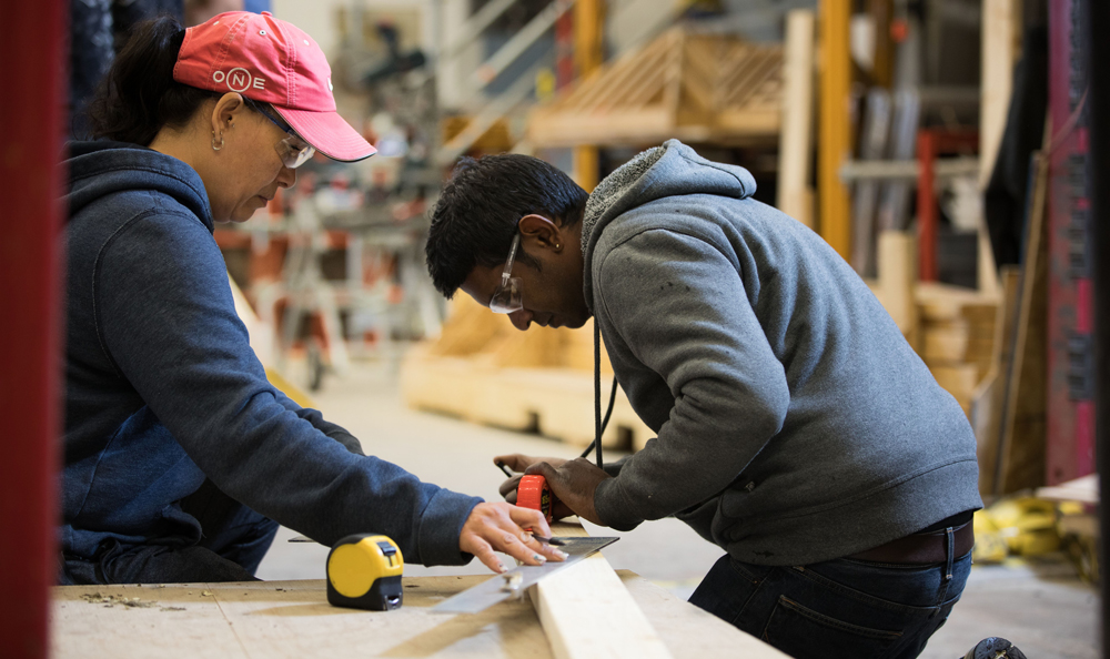Millwork and Carpentry students